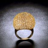 Последние моды Fshion желтого золота CZ латунные дамы свадебные кольца