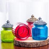 Retro vaso della decorazione del vaso di memoria sigillato vaso europeo di vetro americano della caramella della ciotola di zucchero