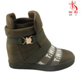 2018の標準的なイギリス様式のバックルの偶然の女性のスニーカーの履物の靴(SN503)