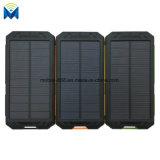 10000mAhコンパスの屋外に緊急時電池が付いているLEDライトが付いている携帯用二重USBの太陽エネルギーバンク