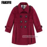 La Chine usine Fashion Enfants Vêtements Enfants Vêtements hiver fille vêtement de laine de vin enduire d'hiver
