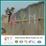Mur enduit galvanisé de la défense de Galfan Hesco de barrière de Hesco