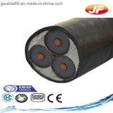 Câble d'alimentation Unarmoured moyen de trois faisceaux isolé par XLPE de tension
