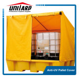 Waterproof PVC plastic Reusable pallet Cover with Zippers