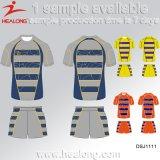 Rugby Jersey d'impression de Digitals de Déchirer-Protection de vêtements de sport de modèle de mode de Healong