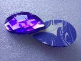 Feuilleté de poudre cosmétique mou de logo de diamant de forme d'éponge faite sur commande de renivellement