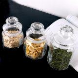 500ml創造的なガラスキャンデーの瓶によって密封される八角形のガラスコーヒー砂糖の茶瓶