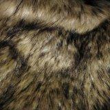 Tessuto a riccio lungo lavorato a maglia tessuto falso della pelliccia per l'indumento/giocattolo/cappello