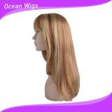 Perruque synthétique populaire de cheveu avec la couleur légère