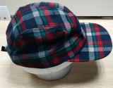 点検された毛織ファブリック平らなキャンピングカーの帽子