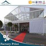 100% Inner Space Disponible Tente en verre en aluminium Double Decker Tent