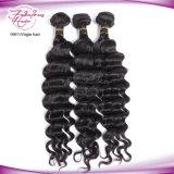 Unverarbeitetes Großhandelsjungfrau-Menschenhaar für brasilianisches loses lockiges Webart-Haar