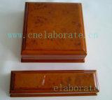 Rectángulo de madera modificado para requisitos particulares de la ranura del anillo de la boda de lujo