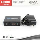Gaia Vision Full HD 2 Port HDMI 1.3 Splitter 1X2 prennent en charge 3D, 1080P