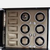 Bobinier en bois automatique de luxe de montre de piano noir