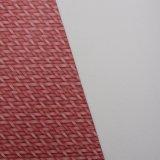 Cuero impreso textura del PVC de la cesta de la estera de la paja para el bolso