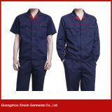 人および女性(W50)のための卸し売り安い濃紺作業ユニフォーム