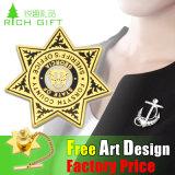 Distintivo di fusione sotto pressione di Pin dell'oro di placcatura personalizzato commercio all'ingrosso 2D/3D
