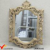 Emoldurado em madeira dourada francesa vintage espelho para pendurar