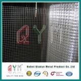 Rete metallica saldata ricoperta PVC quadrata del foro di pollice di 1/2 Rolls