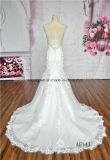 Сексуальное платье венчания задней части иллюзиона шнурка Mermaid