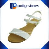 Sandalo moderno di cuoio delle signore dell'unità di elaborazione del sandalo piano della donna di modo