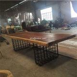 (SL-8306) Mobília Home do restaurante do hotel com a tabela de jantar da madeira contínua