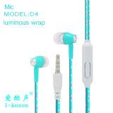 L'ordre populaire lumineux écouteurs stéréo intra-auriculaires avec microphone