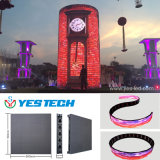 La magia de la serie Yestech etapa a todo color del panel de pantalla LED curvada