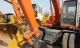 Excavador usado, excavador usado de la rueda del excavador Ex100wd-1 de Hitachi para la venta