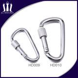 Schnelle Freigabe-Silber Keychain selbstsichernder kletternder Carabiner Haken