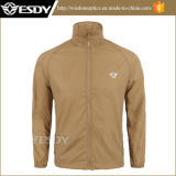 Hombres respirables ultrafinos de la camisa de la piel de la camisa de los hombres militares de Esdy