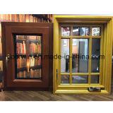 Gire a la inclinación de la ventana, ventana de madera de roble con revestimiento de aluminio exterior