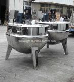 Chaleira Jacketed do vapor do aço inoxidável com agitador