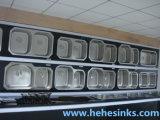 60/40のTopmountのハンドメイドの洗浄流しは、手作りする台所の流し(HMTD3117L)を