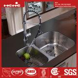Le bassin, bassin de cuisine, acier inoxydable sous le bassin de cuisine de cuvette de double de support avec Cupc a reconnu