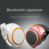 Nouveau style de regarder l'Orateur appel mains libres Bluetooth Sports avec support de carte de TF de radio FM