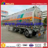 半50tons 3axleの燃料水タンカーの合金アルミニウムタンクトレーラー