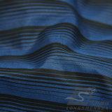 agua de 50d 290t y de la manera de la chaqueta tela catiónica tejida chaqueta Viento-Resistente 100% del filamento del hilado del poliester rayado del telar jacquar abajo (X026)