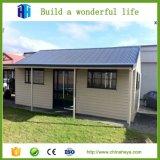 Casa prefabricada del mueble del jardín WPC de la estructura de acero del calibrador de la luz de Heya