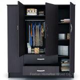 Portas de madeira de madeira de 4 portas separadas Armário de armário de quarto (HF-WS023)