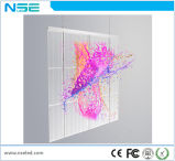 Visor LED transparente na janela da parede de vidro P10mm tela LED de vídeo