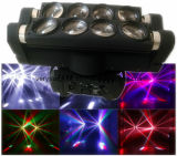 Double Head LED Spider Light 8 olhos 10W RGBW 4in1 cabeça móvel