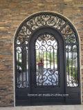 Portas feitas sob encomenda modernas superiores quadradas do vidro do ferro feito da segurança
