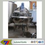 Caldera vestida del vapor con el mezclador y el raspador para el atasco