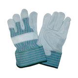 Двойной упор для рук из натуральной кожи крупного рогатого скота для тяжелого режима безопасности защитные перчатки