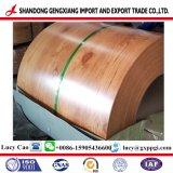 Cruce de acero galvanizado en caliente prebarnizado PPGI con patrón de grano de madera