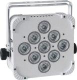 Lumière à piles UV de PARITÉ de la radio 6in1 DEL de la marque 9PCS*18W Rgbaw
