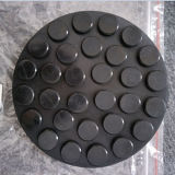 Круглый блок резиновый пусковой площадки с металлопластинчатым для автомобиля