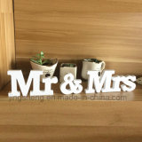 Mr& de Houten Alfabet Ornamenten van Mevr. Signs Letters Wedding Supplies